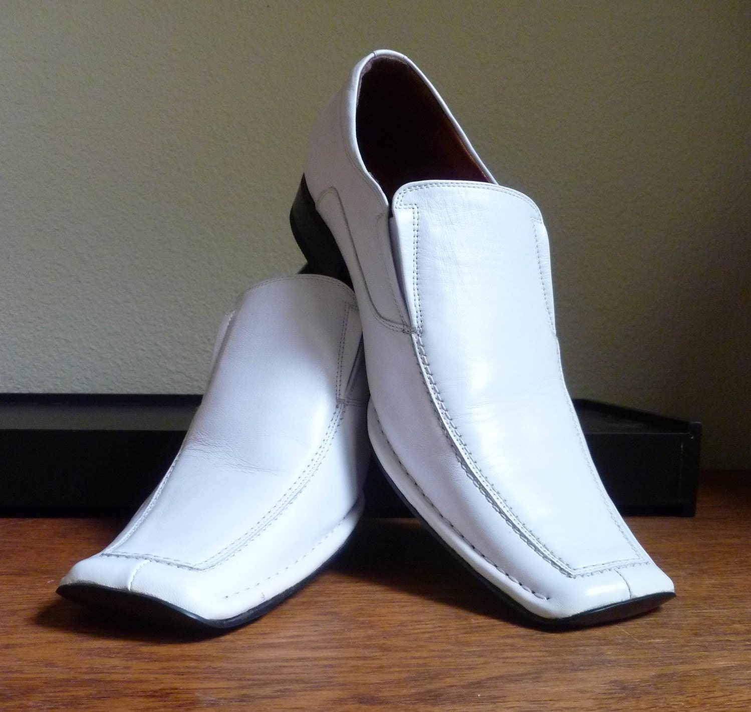 s leather shoes wedding white size 12 m