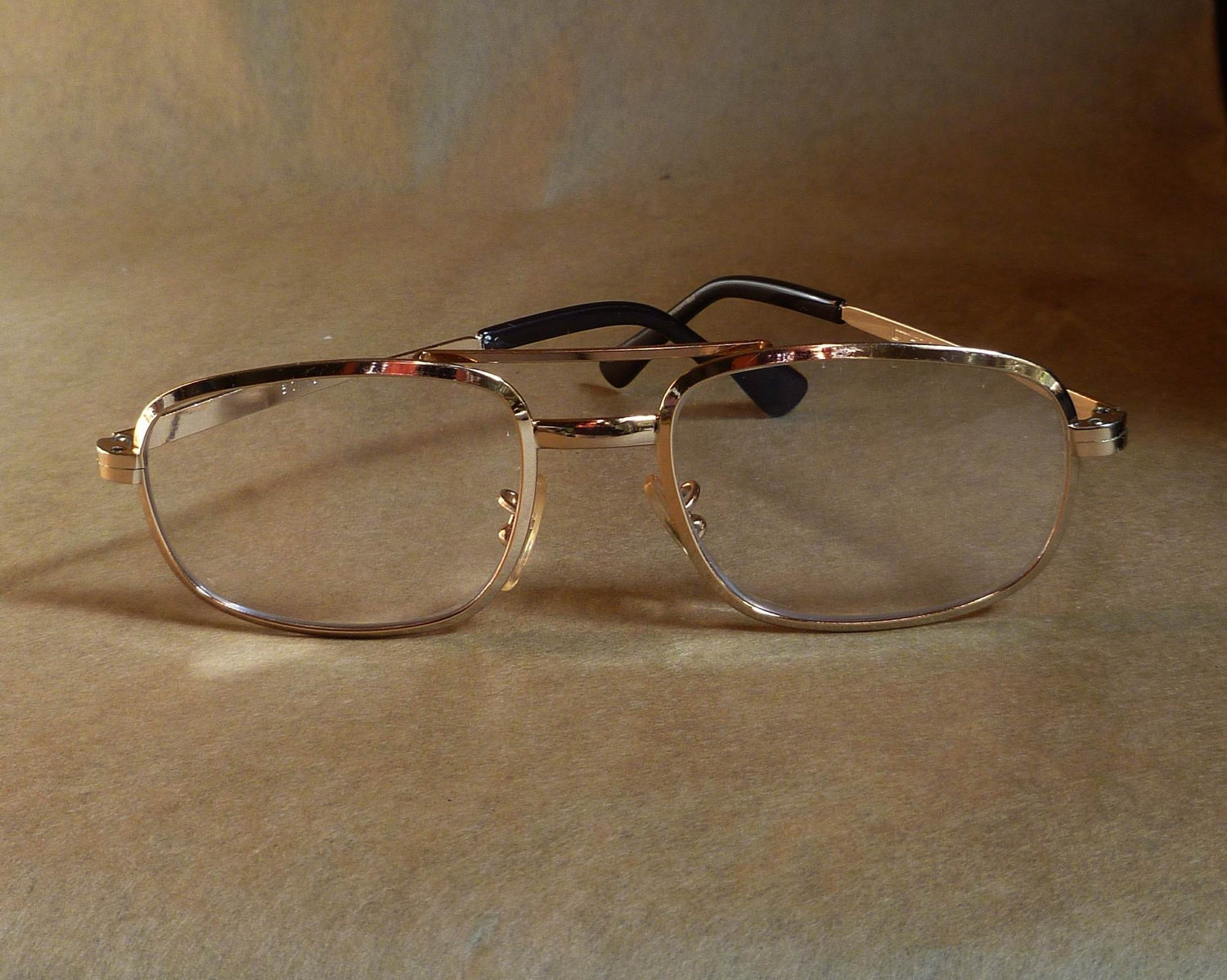 Vintage COTTET Gold Aviator Eyeglasses Made in France