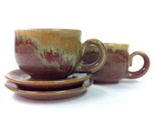 Potbelly Espresso Cup and Saucer Set for 1