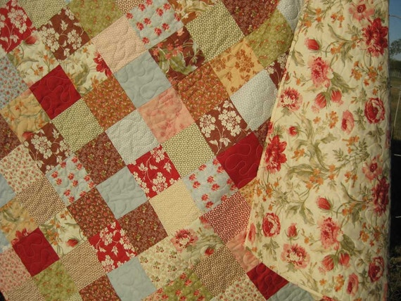 Patchwork Butterscotch Quilt