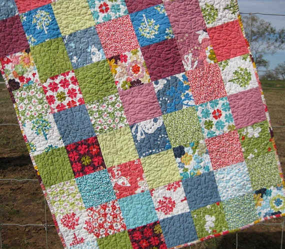Stroller Patchwork Baby Quilt Just Wing It