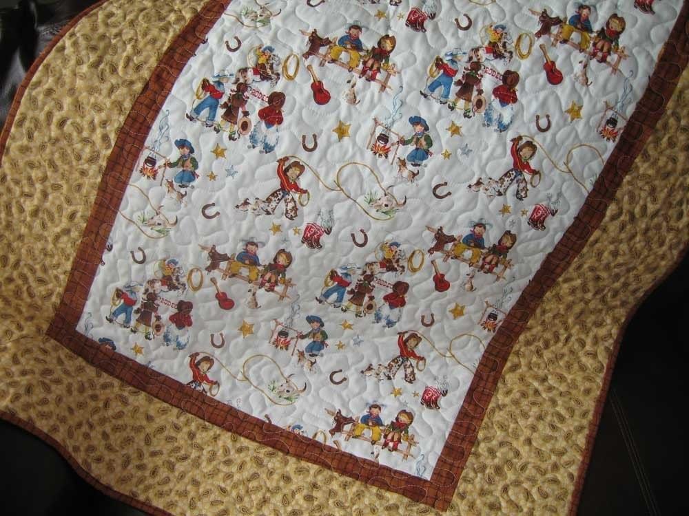 Little Buckaroo Vintage Cowboy Quilt