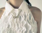 Balle - vintage brass bullets fringe necklace