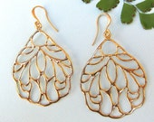 Fancy Gold Drop Earrings