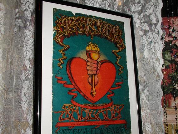 Vintage Santana Poster, Fillmore West-San Francisco 1968