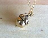 Little Golden Acorn Necklace - 14k Gold Filled Chain