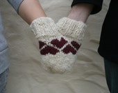 Smitten Love-Glove Valentine's Day Double Mitten Hearts FREE SHIPPING
