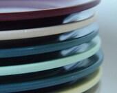 1950s Melmac Plates Boonton Multi Colored Small Plates Set of 7 Vintage Housewares Molded Plastic Dinnerware