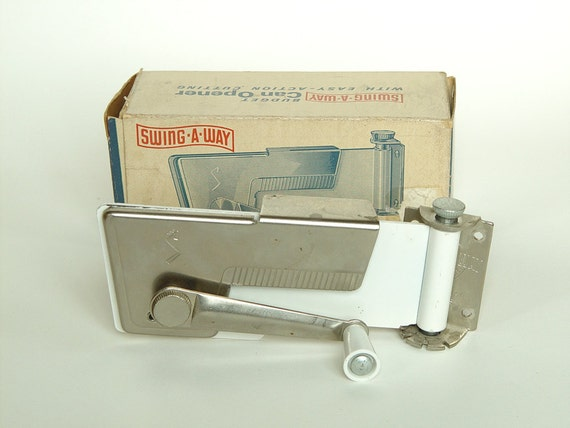 Vintage 1950s Swing A Way Budget Wall Mount Can Opener White
