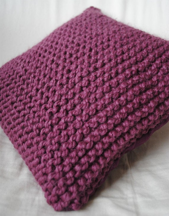 Knit Pillow Cover Pattern : Items similar to Knit Pillow Cover Pattern on Etsy