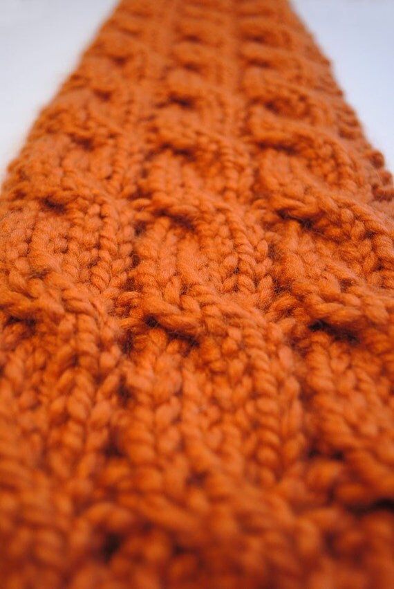 Three Cable Knit Scarf Pattern
