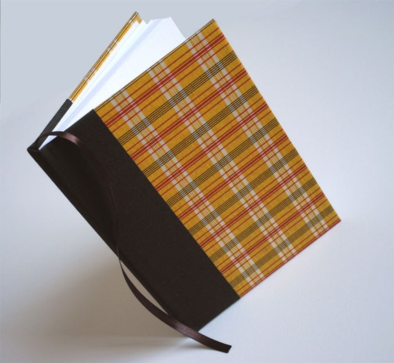 Customized Journal - Yellow Plaid - special features