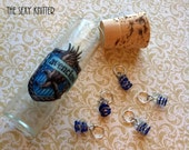 Ravenclaw Sequined Stitch Markers - set of 5 for Harry Potter fans