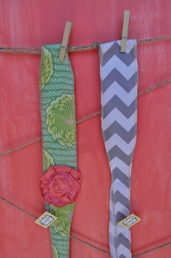Set of Two, Fabric Tie Back Headbands