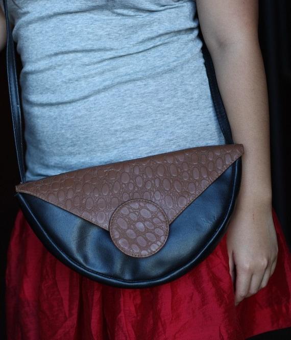 Vintage Crossbody Bag, Purse, Unique Design, Genuine Leather, Made in Uraguay