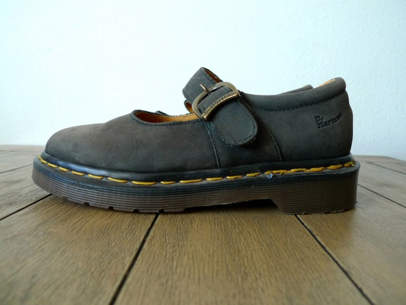 Vintage 90s Dr. Martens Mary Jane Shoes, Made in England, Size 4 UK, 6.5 US