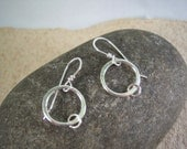 ON SALE   Ring Around The Rosie Fine Silver Earrings