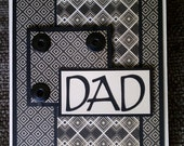 Happy Fathers Day Black and Cream Card
