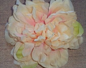 Silk Flower - Peony - Peach Tones - Single
