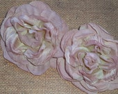Silk Flowers - Vintage Roses - Blush - Set of Two