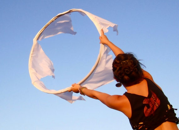 CUSTOM Wind Weaver Fabric Flag Wing Hula Hoop