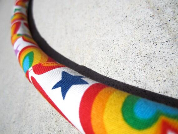 CUSTOM Rainbow Love Collapsible Travel Fabric Hula Hoop