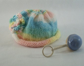 Rolled brim baby hat