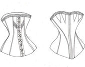 Pattern for authentic 1844 corset