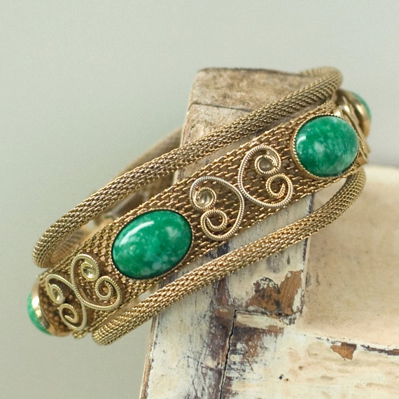 Mesh Bracelet Gold Tone Vintage