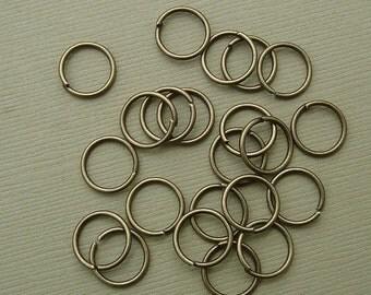 50pcs-Jump Rings, Antique Bronze , Heavy Strong, OD-10mm, 18ga.