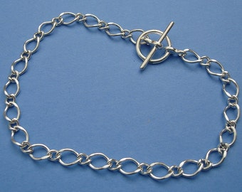5pcs-Bracelet Chain Sterling Silver Plated, Ready to Wear .