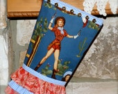 Pistol Packin Paula - The Cowgirl Christmas Stocking ................   (proceeds going to the Paula Saletnik Medical Fund)