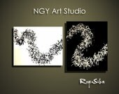 NGY  44  x  24 Custom made R. Silva Original Modern Abstract Contemporary Fine Art Painting