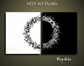 NGY  40  x  24 Custom made R. Silva Original Modern Abstract Contemporary Fine Art Painting