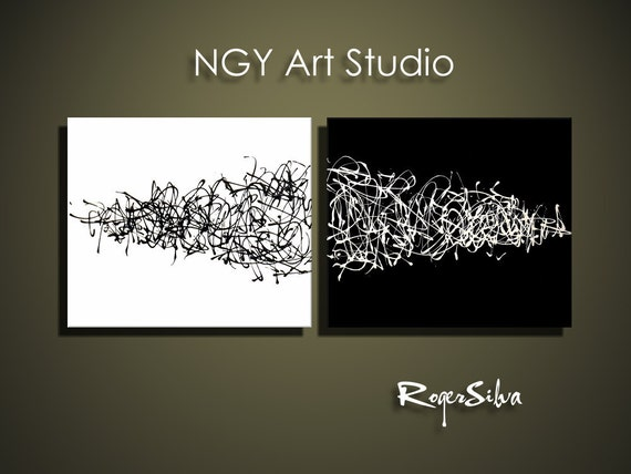 NGY  48  x  20 Custom made R. Silva Original Modern Abstract Contemporary Fine Art Painting