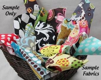 Designer Fabric Scrap Bag - Surpise Bag of Scraps - Big pieces 8oz total weight