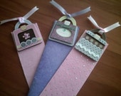 Handmade Silk, Boutique Papers and Embellishment Bookmarks