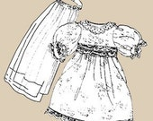 Sewing Pattern Teddy Bear BRIDAL GOWN and VEIL