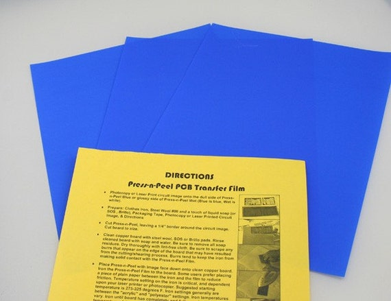 Press N Peel Pnp Blue Pcb Transfer Paper Etch Metal 10 Sheets
