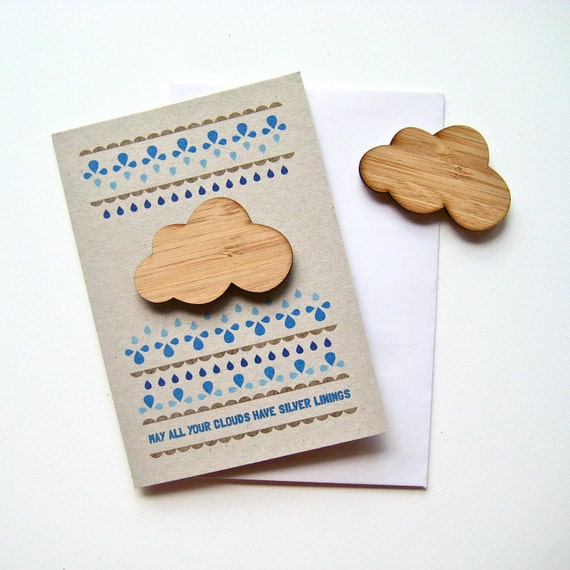 May all your clouds have silver linings magnet card