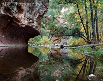 Photograph Sedona Reflections Fall Colors Fine Art Metallic Photo paper