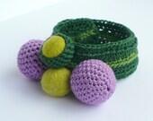 Crochet Spring Bracelet,  origina for woman, for her, for girls, gift