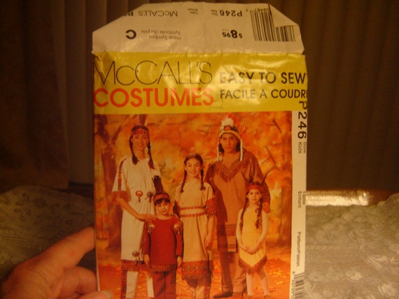 McCall's Indian costume pattern  P246 crafts