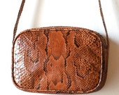 Vintage Italian reptile leather purse