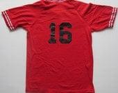 Red White BIKE Logo Sport Team Jersey 16 Medium M Shirt