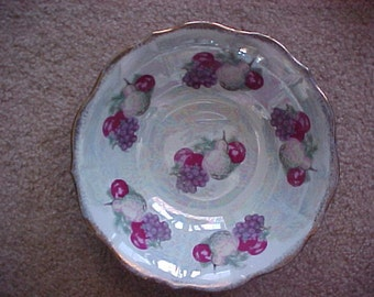 Charming Irridescent Fruit Serving Bowl