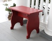 Pine Stool in cranberry