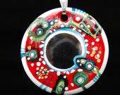 Secret Mirror Porcelain Pendant,OOAK