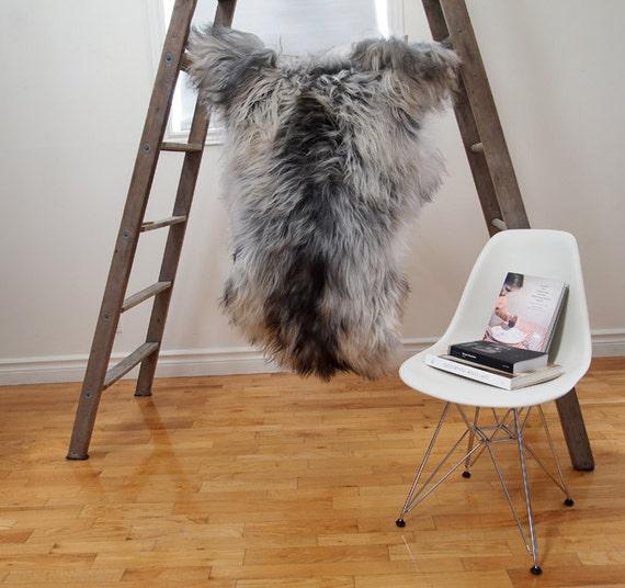 GRAY Icelandic Sheepskin Rug / Throw / Fur - 'Eco-Friendly'