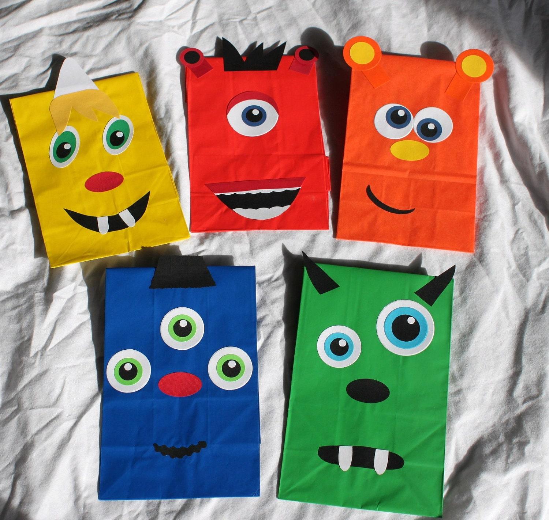 Monster Party Favors Treat Goody Bags Loot Favor Sacks Kids